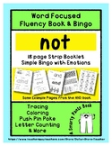 NOT - Word Fluency Book & Emotion Bingo - Sight Word Focus