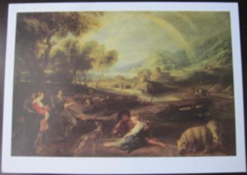 CARDS PETER PAUL REUBENS ART Landscape with a Rainbow writ