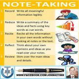 NOTE TAKING LESSON AND RESOURCES