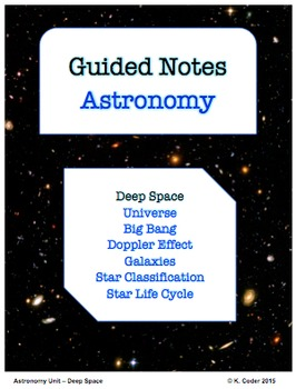 NOTES BUNDLE - Deep Space *EDITABLE* w/ PowerPoint!