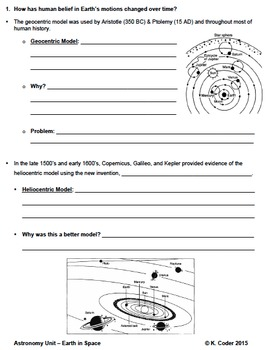 NOTES BUNDLE - Earth in Space & Seasons *EDITABLE* w/ PowerPoint!