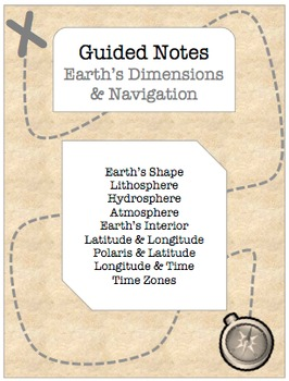 NOTES BUNDLE - Earth's Dimensions and Navigation  *EDITABLE* w/ PowerPoint