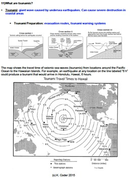 NOTES BUNDLE - Geologic Hazards *EDITABLE* w/ PowerPoint!