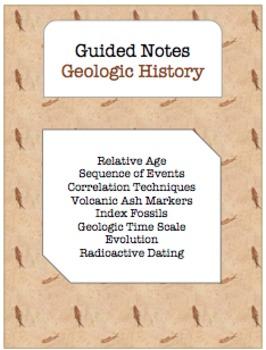 NOTES BUNDLE - Geologic History *EDITABLE* w/ PowerPoint!