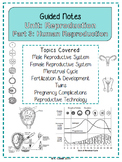NOTES BUNDLE - Human Reproduction *EDITABLE* w/ PowerPoint