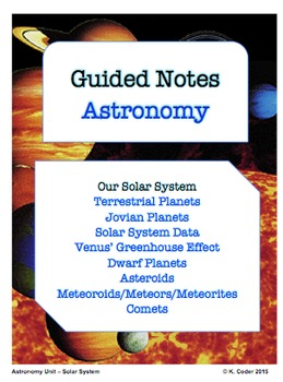 NOTES BUNDLE - Our Solar System *EDITABLE* w/ PowerPoint!