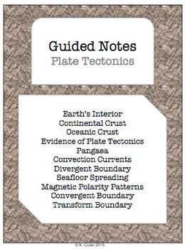 NOTES BUNDLE - Plate Tectonics *EDITABLE* w/ PowerPoint!