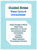NOTES BUNDLE - Water Cycle & Groundwater *EDITABLE* w/ PowerPoint!