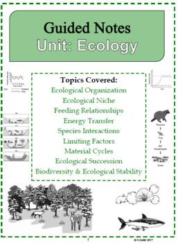 NOTES - Ecology *EDITABLE BUNDLE*