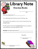 NOTES: Library Overdue Letter Home