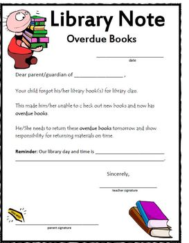 Sample Letter For Overdue Library Books
