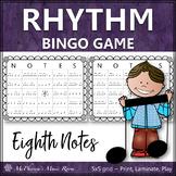 Eighth Note Rhythm Bingo Game