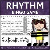 Sixteenth Note Rhythm Bingo Game