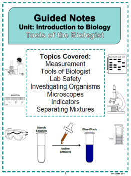 NOTES - Tools of the Biologist *EDITABLE BUNDLE*