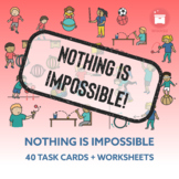 NOTHING IS IMPOSSIBLE | Distance Learning: 40 Task Cards +