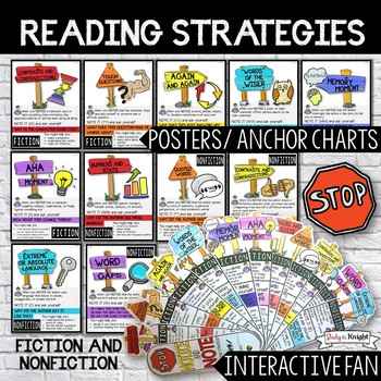 READING STRATEGIES, POSTERS, ANCHOR CHARTS, AND INTERACTIVE FAN