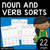 NOUN AND VERB SORT! PRINT AND GO!
