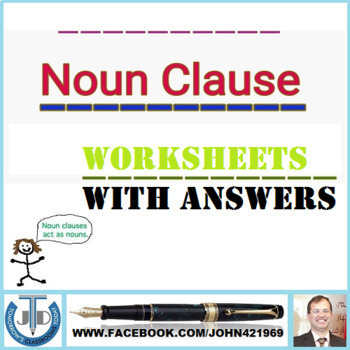 NOUN CLAUSE WORKSHEETS WITH ANSWERS