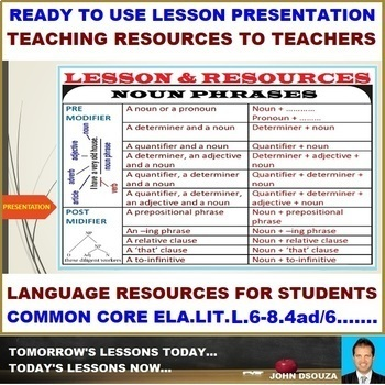 NOUN PHRASES: READY TO USE LESSON PRESENTATION