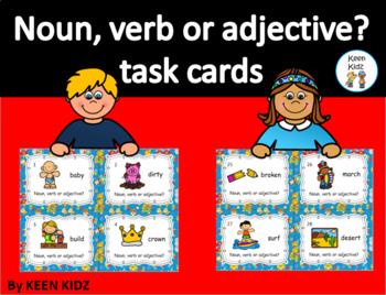 NOUN, VERB OR ADJECTIVE TASK CARDS