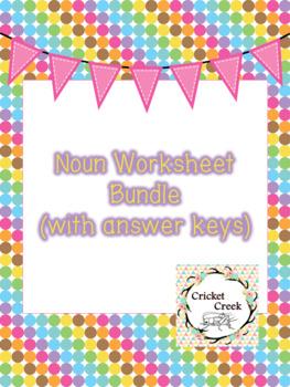 NOUN WORKSHEET BUNDLE (with answer keys)