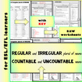Regular and Irregular Plural of Nouns / Countable and Uncountable Nouns