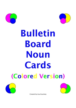 NOUNS - BULLETIN BOARD - english, language arts, grammar