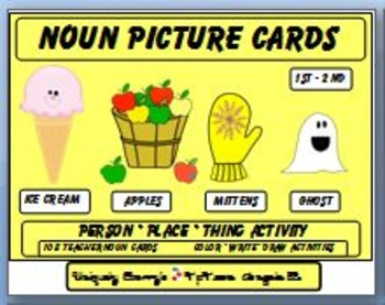 NOUN PICTURE CARDS  1st - 2nd