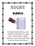 NOUNS Bundle!  Person, Place or Thing Activities and Worksheets