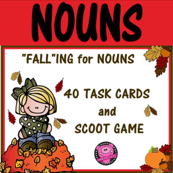 Nouns Fall Theme Tasks Cards for 2nd and 3rd Grade