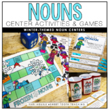 Noun Center Activities and Task Cards-Possessive,Proper/Co