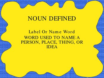 NOUNS IN A POWERPPOINT