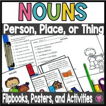 Nouns Activities for K thru 1st Grade