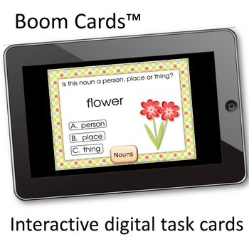 NOUNS Person Places Things - Digital Task Cards - BOOM Cards