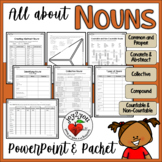 NOUNS – PowerPoint Tutorial, Note Pages, and Fun Worksheets