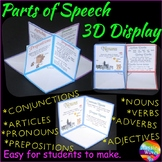 NOUNS VERBS ADJECTIVES ADVERBS 3D Craft Activity Anchor Chart Reference Resource