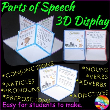 NOUNS VERBS ADJECTIVES ADVERBS 3D Craft Activity Anchor Ch