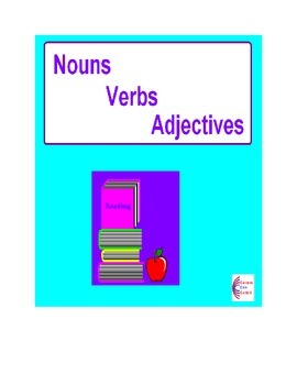 NOUNS, VERBS, ADJECTIVES Over 100 Common Core Language ELA Worksheets