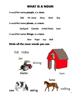 NOUNS: fun with common and proper nouns