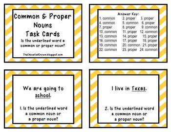 NOUNS task cards bundle!
