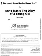 Standards Based End-of-Book Test for Anne Frank: The Diary of a Young Girl