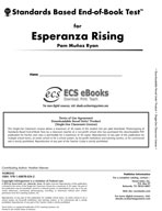 Standards Based End-of-Book Test for Esperanza Rising