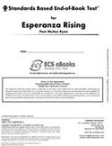 Standards Based End-of-Book Test for Esperanza Rising