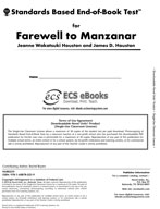 Standards Based End-of-Book Test for Farewell to Manzanar