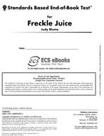 Standards Based End-of-Book Test for Freckle Juice