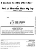 Standards Based End-of-Book Test for Roll of Thunder, Hear My Cry