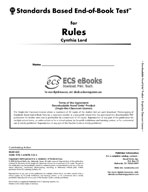 Standards Based End-of-Book Test for Rules