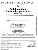 Standards Based End-of-Book Test for Sadako and the Thousand Paper Cranes