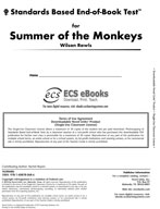 Standards Based End-of-Book Test for Summer of the Monkeys