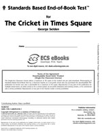 Standards Based End-of-Book Test for The Cricket in Times Square